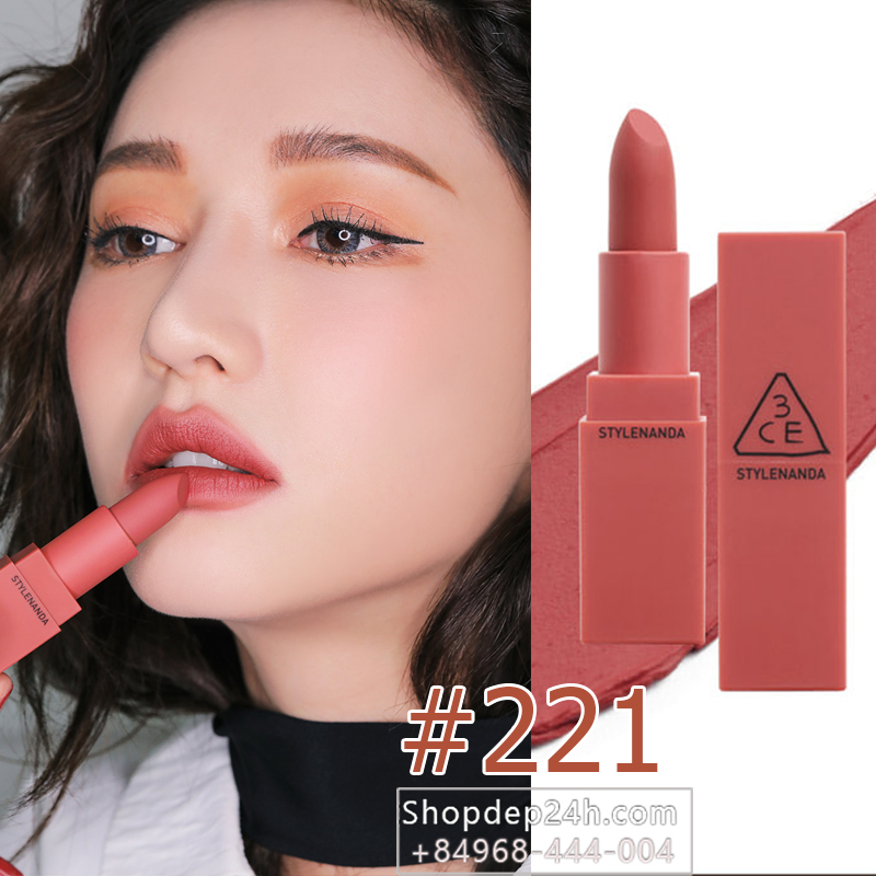 3CE MOOD RECIPE MATTE LIP COLOR 2017 #221